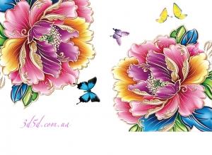 """Набор алмазной вышивки """"Цветы с бабочками"""""""