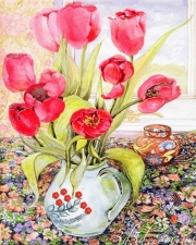 "Набор алмазной мозаики ""Тюльпаны в кувшине, худ.Joan Thewsey """