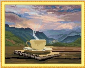 """Набор алмазной мозаики """"В раздумьях. Чашка кофе."""""""
