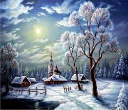 """Набор алмазной вышивки """"Вечер. Зима"""""""