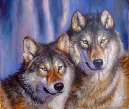 """Набор алмазной вышивки """"Верность. Два волка"""""""