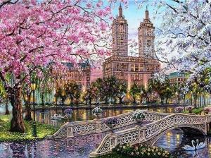 """Набор алмазной мозаики """"Весна в парке"""""""