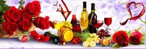 """Набор алмазной мозаики """"Вино и фрукты"""""""