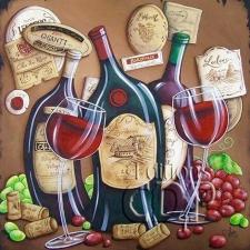 """Набор алмазной вышивки """"Вино - символ долголетия"""""""