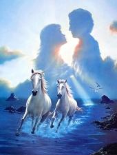 """Набор алмазной вышивки """"Влюбленные и лошади"""""""