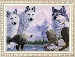 """Набор алмазной вышивки """"Волки и орлы. Сила природы"""""""
