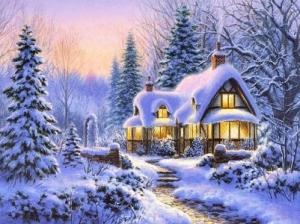 """Набор алмазной мозаики """"Волшебная зима"""""""