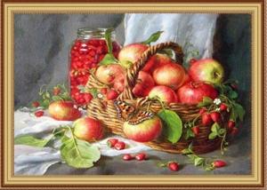 """Набор алмазной вышивки """"Яблоки и земляника"""""""