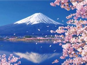 """Набор алмазной вышивки """"Япония. Фудзияма в цвету. Образец природной гармонии"""""""