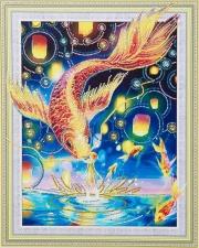 """Набор алмазной мозаики """"Золотая рыбка на счастье"""""""
