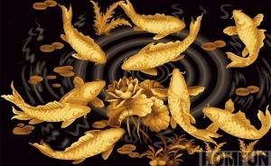 """Набор алмазной мозаики """"Золотые рыбки на счастье"""""""