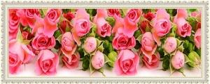 """Набор алмазной вышивки """"Нежные розовые розы"""""""