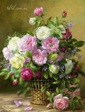 """Набор алмазной мозаики """"Изысканный букет роз, худ. Albert Williams"""""""