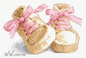 """Набор алмазной вышивки """"Обувка для новорожденной"""""""