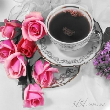"""Набор алмазной вышивки """"Розы и кофе"""""""