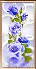 """Набор алмазной вышивка """"Синяя роза частичная выкладка"""""""