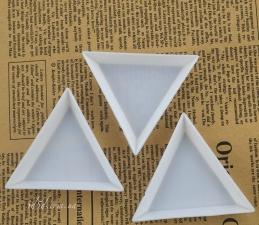 Треугольные тарелочки для страз, набор 3 шт.