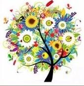 """Набор алмазной вышивки """"Весна.Дерево радости"""""""